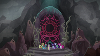 Mane Seven in front of Tartarus' gates S8E25