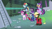 Power Ponies with mouths agape S4E06