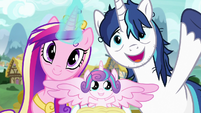 Princess Cadance, Flurry Heart, and Shining Armor S7E3