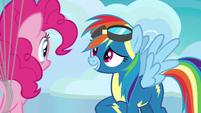 "Rainbow Dash ""his sensitive tortoise tummy"" S7E23"