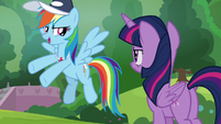 "Rainbow Dash ""playing in the game"" S9E15"