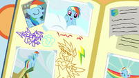 Rainbow Dash drawings in Scootaloo's scrapbook S7E7