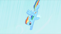 Rainbow Dash zooming down S1E16