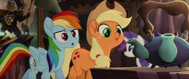 Rainbow and AJ look at Capper's knickknacks MLPTM