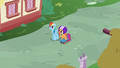Rainbow and Scootaloo watching the Wonderbolts S6E7.png
