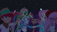 Rainbow pulls Fluttershy by the wrist EGSBP