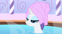 Rarity moping in the bath S1E20