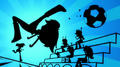 Silhouette of Rainbow Dash kicking a soccer ball EG2.png