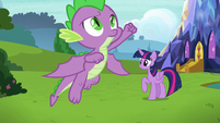 Spike takes off into the air once more S8E24