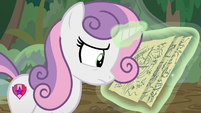Sweetie Belle still reading the map S9E22