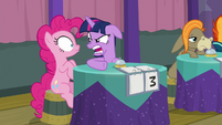 Twilight Sparkle yelling at Pinkie S9E16