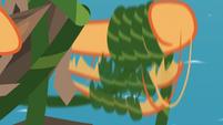 Applejack twirling vine around her hoof S8E9
