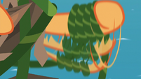 Applejack twirling vine around her hoof S8E9