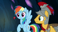 Element of loyalty floats up to Rainbow Dash S7E26