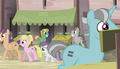 Everypony with equals sign cutie marks S5E1.png