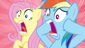 Fluttershy and Rainbow screaming S4E22.png