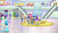 Mane Seven and Flash in the colorful Canterlot Mall SS16.png