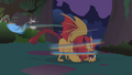 Manticore smacks Rainbow Dash S1E02.png