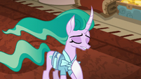 "Mistmane ""hides the misery of its ponies"" S7E16"