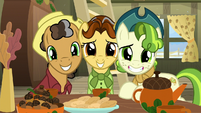 Oak Nut, Butternut, and Pistachio grin at Rarity MLPBGE