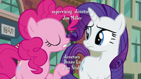 Pinkie Pie moves her hoof while spelling PSSSD S6E3