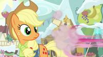 Pinkie Pie speeding off MLPBGE