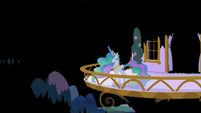 Princess Celestia entering the dream world S7E10