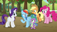"Rainbow Dash ""actually needed their help"" S9E13"