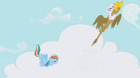 Rainbow Dash and Gilda take off S1E05