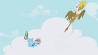 Rainbow Dash and Gilda take off S1E05