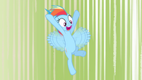 Rainbow Dash comes in for a landing S4E05