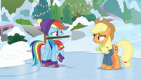 Rainbow Dash picks up the shovel BGES1