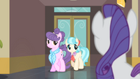 Rarity sees Suri and Coco S4E08