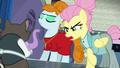 Snooty Fluttershy scolding the raccoons S8E4.png