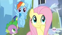 Spike, RD y Fluttershy S4E25