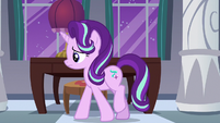 Starlight Glimmer pacing in her castle suite S7E10