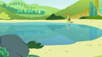 Thorax sitting next to the lake S7E15