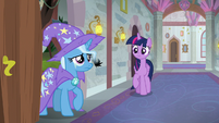 Trixie in tears at the classroom door S9E20