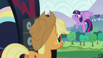 Twilight salutes to Applejack S5E24