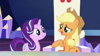 Applejack --somethin' to do with the new baby-- S6E1