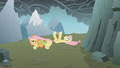 Applejack dragging Fluttershy S1E07.png