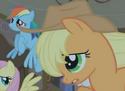 Applejack no freckles S01E09