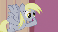 Derpy mentions Dr. Hooves' flameless fireworks S5E9