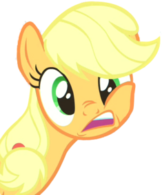 FANMADE Applejack Transparent Weird Expression