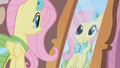 Fluttershy looks at herself in the mirror S1E14.png