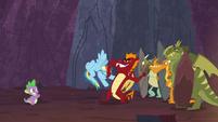 Garble stops Rainbow Dash from taking Netitus S7E25