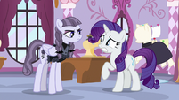 Inky Rose giving Rarity a firm -no- S7E9