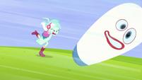 Lyra punching a sandbag EG3