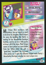 Mr. Stripes & Plaid Stripes Enterplay series 4 trading card back