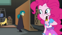 Pinkie Pie eating another Bon Mot candy bar EGS2